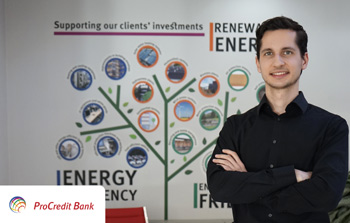ProCredit Bank offers 3 attractive financial products: Green Investment, EcoMobility and Photovoltaic installation