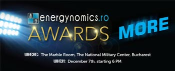 energynomics.ro invites you to the 5th edition of the energynomics.ro Awards for the Romanian energy industry!