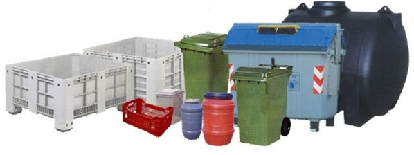 Plastic and metal containers from one of the major municipality suppliers at Save the Planet