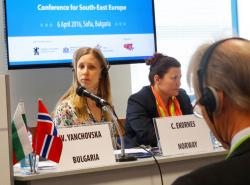 Carina Ekornes - Deputy Head of Mission, Royal Norwegian Embassy; Malina Kroumova - Director, Central Coordination Unit Directorate